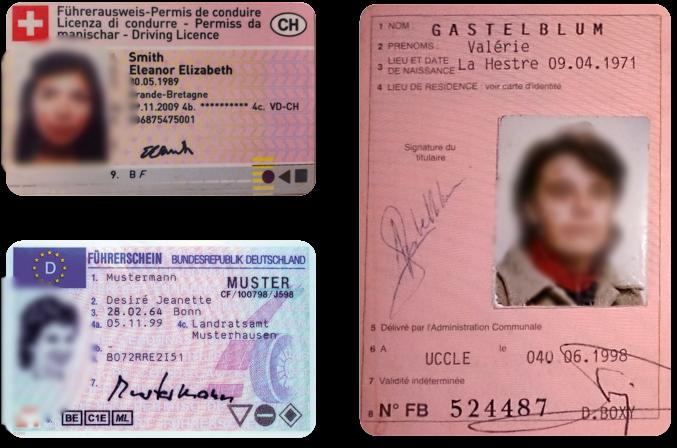 Водительские удостоверения на немецком