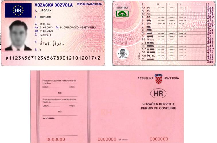 Licencias de conducir en croata